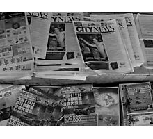 And the news today is....... Photographic Print