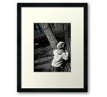 'Peek-a-boo' Framed Print