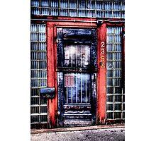 Old Doorway - Fort Worth , Texas Photographic Print