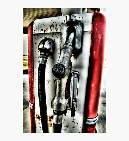 Old Gas Pump Handle Decatur, Texas Photographic Print