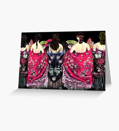 Women in flamenco shawls Greeting Card