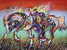 Wild Pastel Ponies by louisegreen