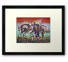 Wild Pastel Ponies Framed Print