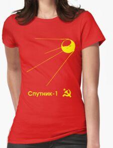 Sputnik-1 Satellite 1957 T-Shirt (dark) Womens Fitted T-Shirt