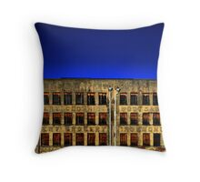 Letters and Windows Throw Pillow