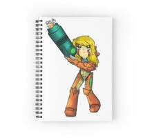 Samus Aran in PnS Style: CutOut Spiral Notebook