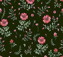 flowers watercolor  by OlgaBerlet