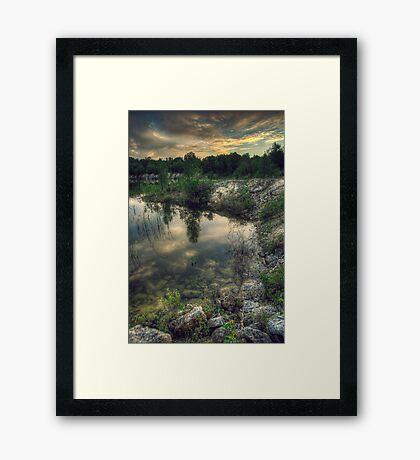 Morning Reflections - Manitoba Framed Print