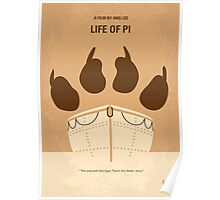No173 My Life of Pi minimal movie poster Poster