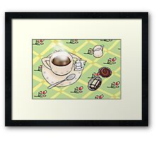 Hot coffee & chocolates Framed Print