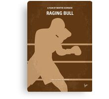 No174 My Raging Bull minimal movie poster Canvas Print