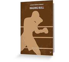 No174 My Raging Bull minimal movie poster Greeting Card