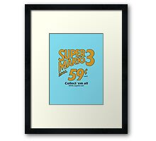 Super Mario Bros 3 - Collect Them All! Framed Print