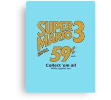 Super Mario Bros 3 - Collect Them All! Canvas Print