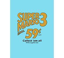 Super Mario Bros 3 - Collect Them All! Photographic Print