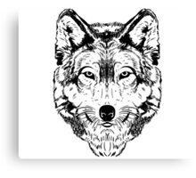 Wolf Black Canvas Print