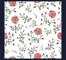 flowers watercolor  One Piece - Long Sleeve