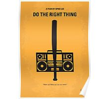No179 My Do the right thing minimal movie poster Poster