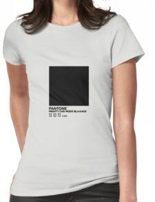 Blaaaaaaaack Shirt Womens Fitted T-Shirt