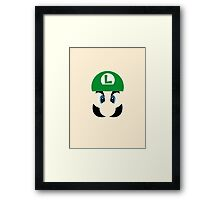 Luigi Face Framed Print