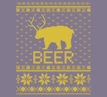 Ugly Sweater Party Beer Bear Funny  Kids Clothes