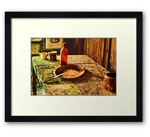 OLD COUNTRY BUFFET. Framed Print