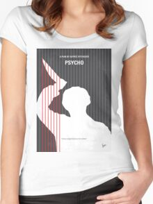 No185 My Psycho minimal movie poster Women's Fitted Scoop T-Shirt