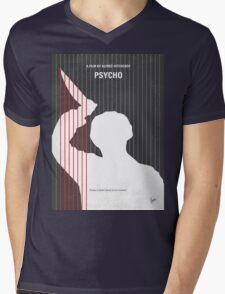 No185 My Psycho minimal movie poster Mens V-Neck T-Shirt