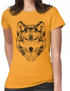 Wolf Black 2 Womens Fitted T-Shirt