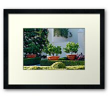 Hamilton Gardens New Zealand  -Italian Renaissance Garden Framed Print