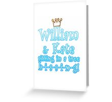 William & Kate Greeting Card