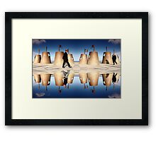 Whitely Bay Pavement Art Framed Print