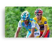 Contador V's Brajkovic Canvas Print