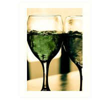 Cocktail Green Art Print