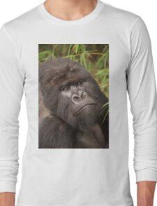 Close-up of silverback gorilla looking at camera Long Sleeve T-Shirt