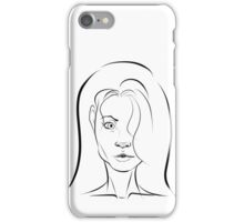 Minimal Girl iPhone Case/Skin
