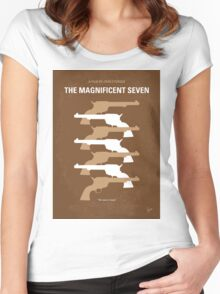No197 My The Magnificent Seven minimal movie poster  Women's Fitted Scoop T-Shirt