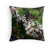 Michigan Wildflowers Throw Pillow