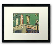 remedy diner Framed Print
