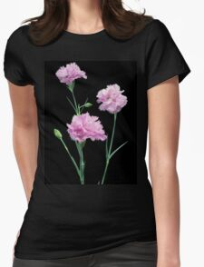 Pinks on Black Womens Fitted T-Shirt