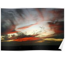 Ribbed Sunset Poster