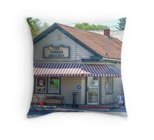The Corner Store Throw Pillow