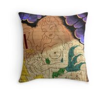 Ink On Wall Throw Pillow