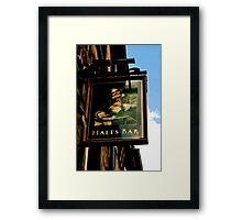 Hales Bar Sign Representation Framed Print