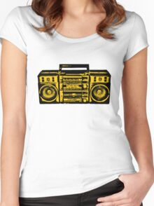 Tape recorder Women's Fitted Scoop T-Shirt