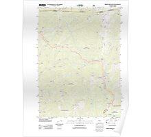 USGS Topo Map California Broken Rib Mountain 20120323 TM Poster