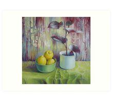Still life with lemons Art Print