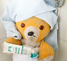 Fred Bear Likes to Keep His Teeth Clean by missmoneypenny