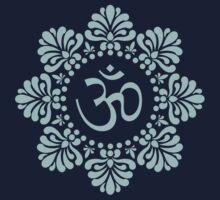 Alpona Lotus Mandala Om Shirt by shantitees