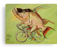 Hogfish on a Bicycle Canvas Print